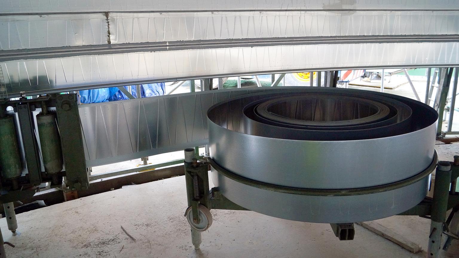 Lipp Verinox steel band coil feed