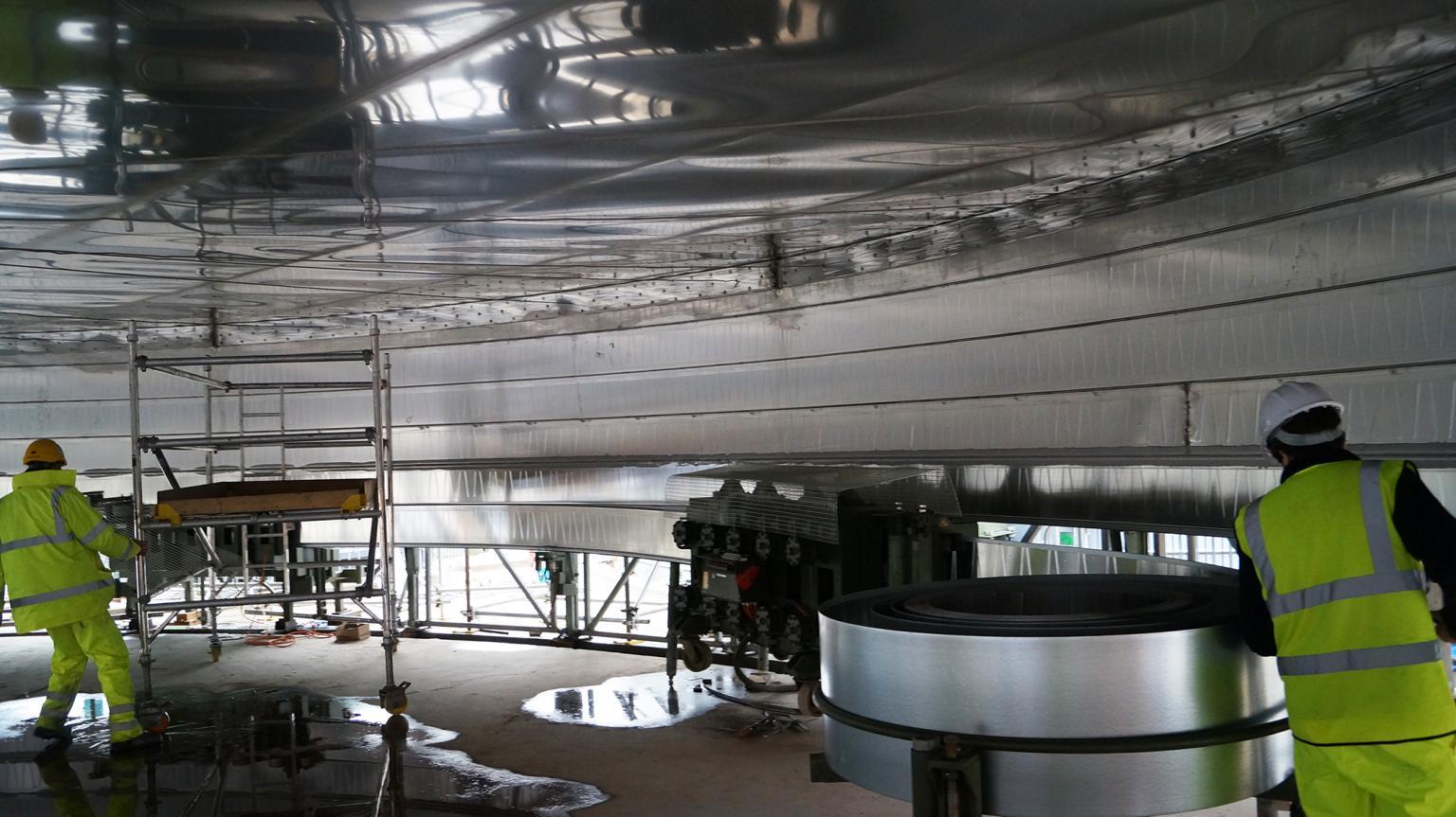 Lipp Spiral Seam tank construction system
