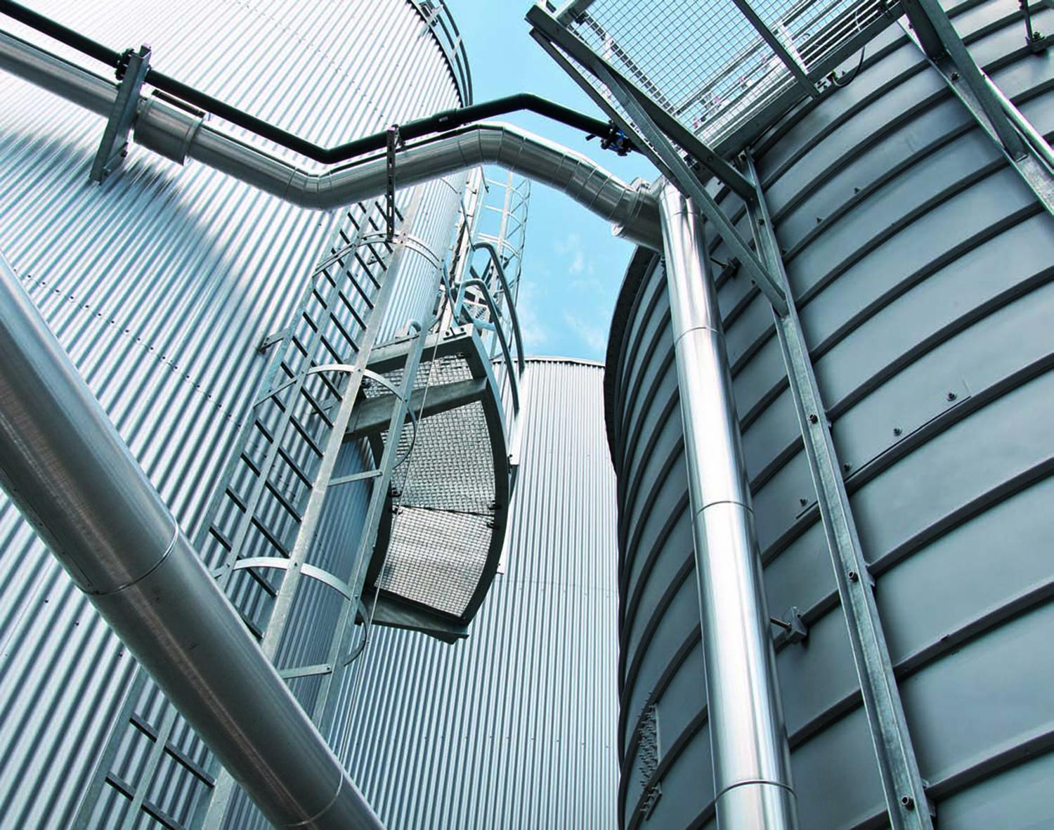 Thousands of Lipp tanks have been erected around the world, uses vary from salt water containment for fisheries to grain silos, gas storage and a large number of anaerobic digestion plants for slurry storage and as bio reactor vessels. They are popular because they are zero maintenance, they don't leak and they are fast to erect and can be constructed with minimal work done at heights – so far they have never been used as a micro meteorite shield in space …