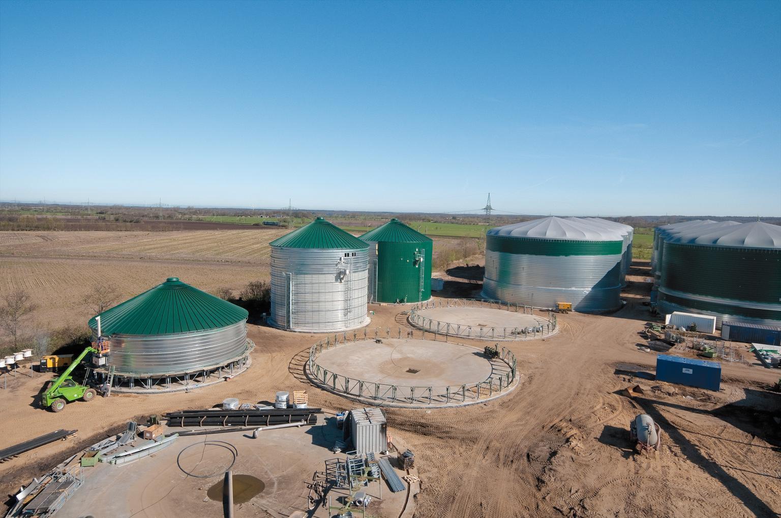 Biogas Plant being built using Lipp SST tank