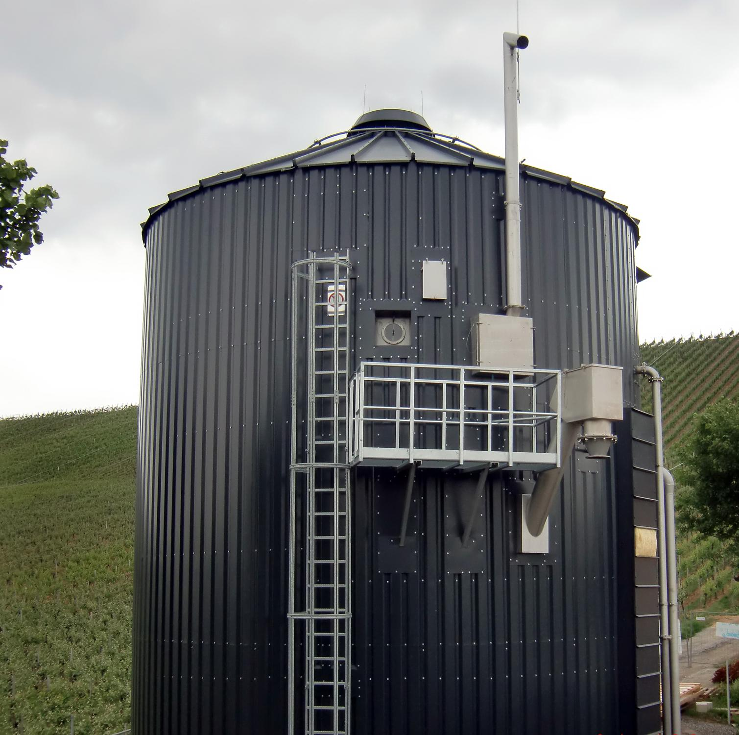 A Lipp spiral seam biodigester tank