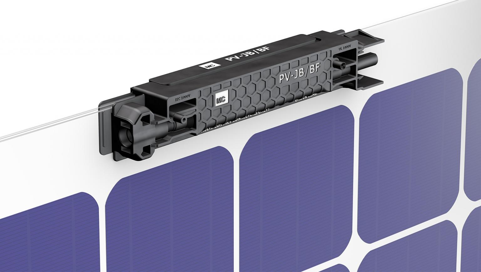 The new PV-JB/BF edge connector for solar panels from Multi-Contact