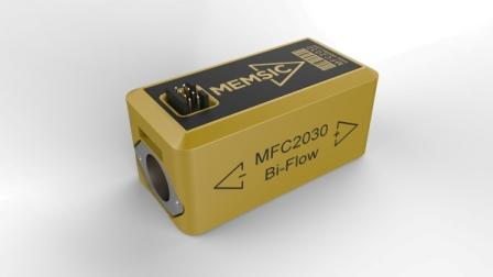 MEMSIC MFC2030 Flow Sensor versus competitive flow sensors from Honeywell and Sensirion. In addition to being bi-directional, MEMSIC provides greater flow range, lower press drop and higher accuracy
