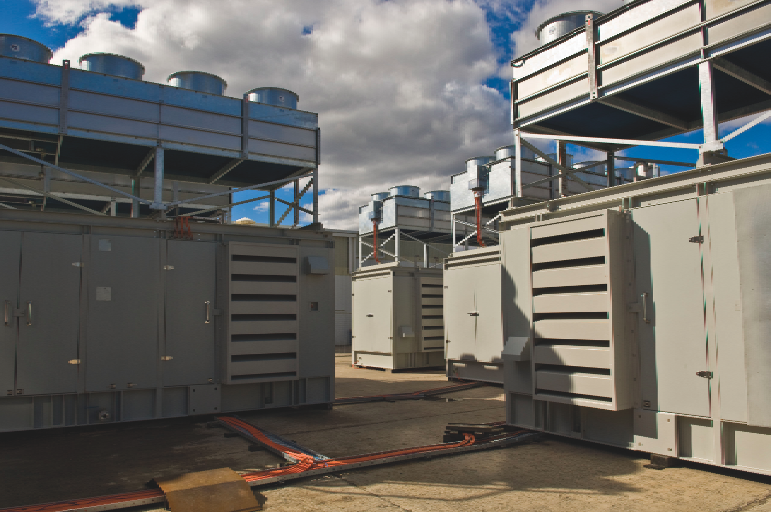 Generating sets ready for shipment to Barrow Island from MPower's Ingleburn facility