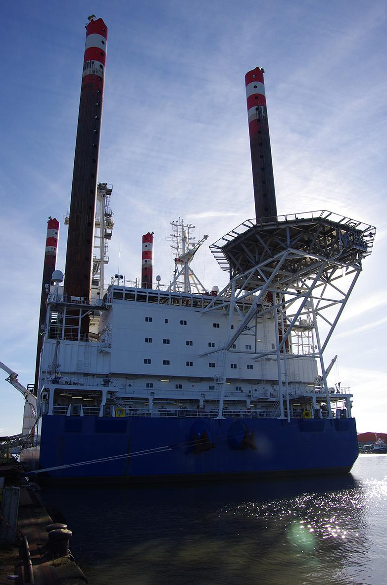 The wind turbines will be installed by the M/V TORBEN vessel