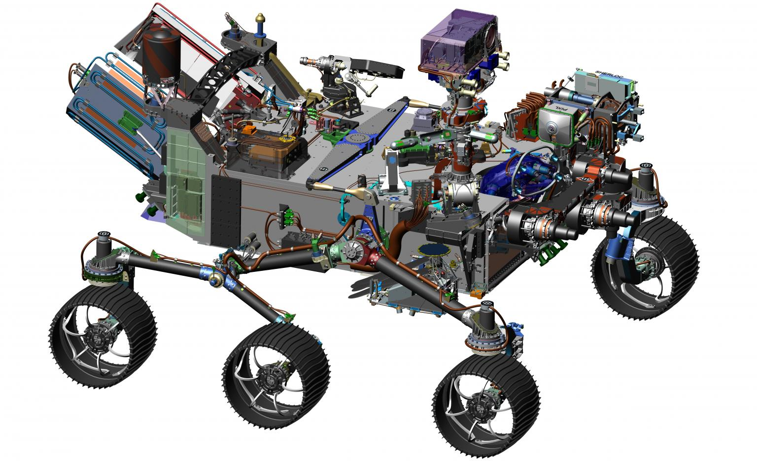 A CAD image of the Mars Rover, whose radar system will be equipped with blind rivets from TR Fastenings