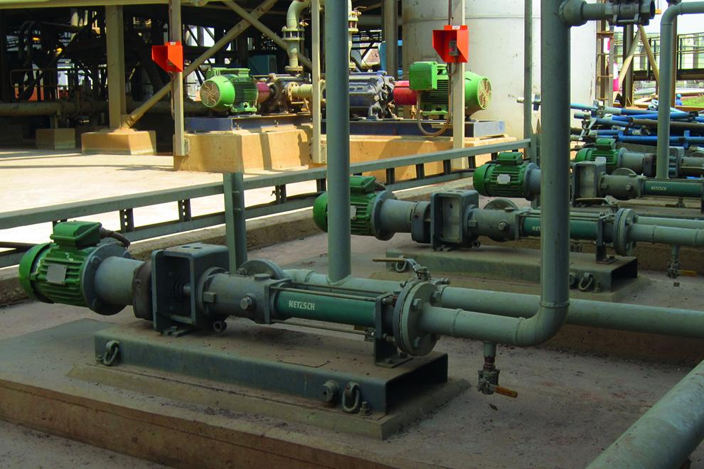 Series of Nemo pumps installed for slurry transfer application