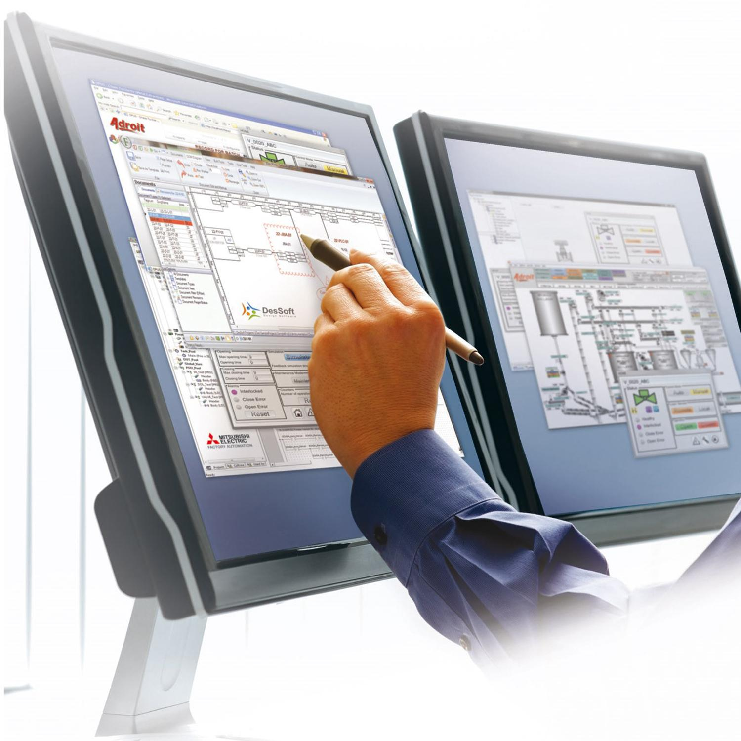 Mitsubishi Electric's M2M communication solution's intelligence lies in the standard integrated PLC function blocks matched to an M2M driver in the MAPS SCADA