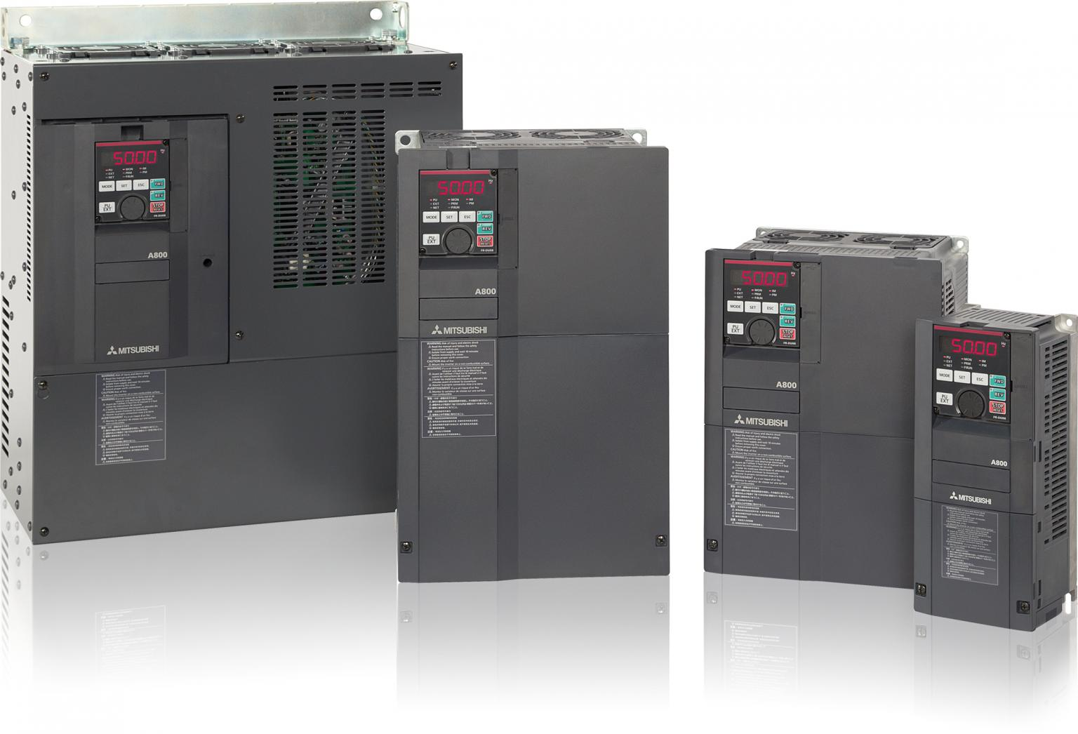 Mitsubishi Electric's new generation FR-A800 of inverter is specially designed for use in classic plant and machinery and with its maximum output and performance, increased efficiency and productivity are guaranteed. Source: Mitsubishi Electric Europe BV Automation Systems Division, UK
