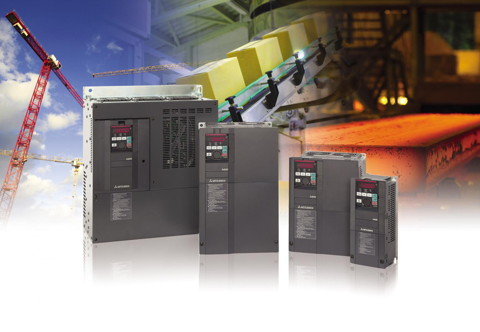 With the FR-A800 series of drives, Mitsubishi Electric introduces its very latest drive technology with an output range extending from 750 watts up to a maximum of 1 megawatt. Source: Mitsubishi Electric Europe BV Automation Systems Division, UK