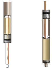 Figure Nine: Extension Damper (Left) & Compression Damper (Right)