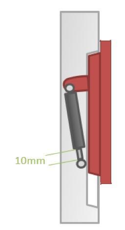 Figure Six: 10mm of Unused Stroke Example