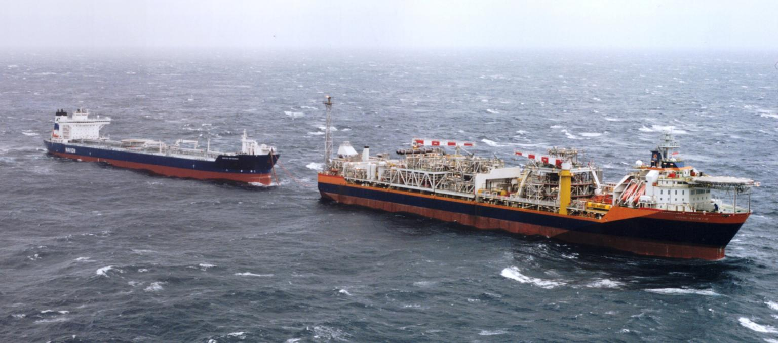 The PMS is used to increase safety during offshore loading of crude oil