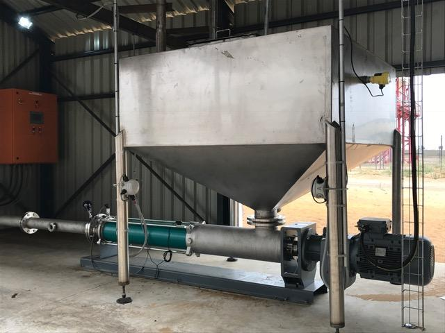 A Nemo BY progressing cavity pump is used to fill the tanks with ammonium nitrate emulsion