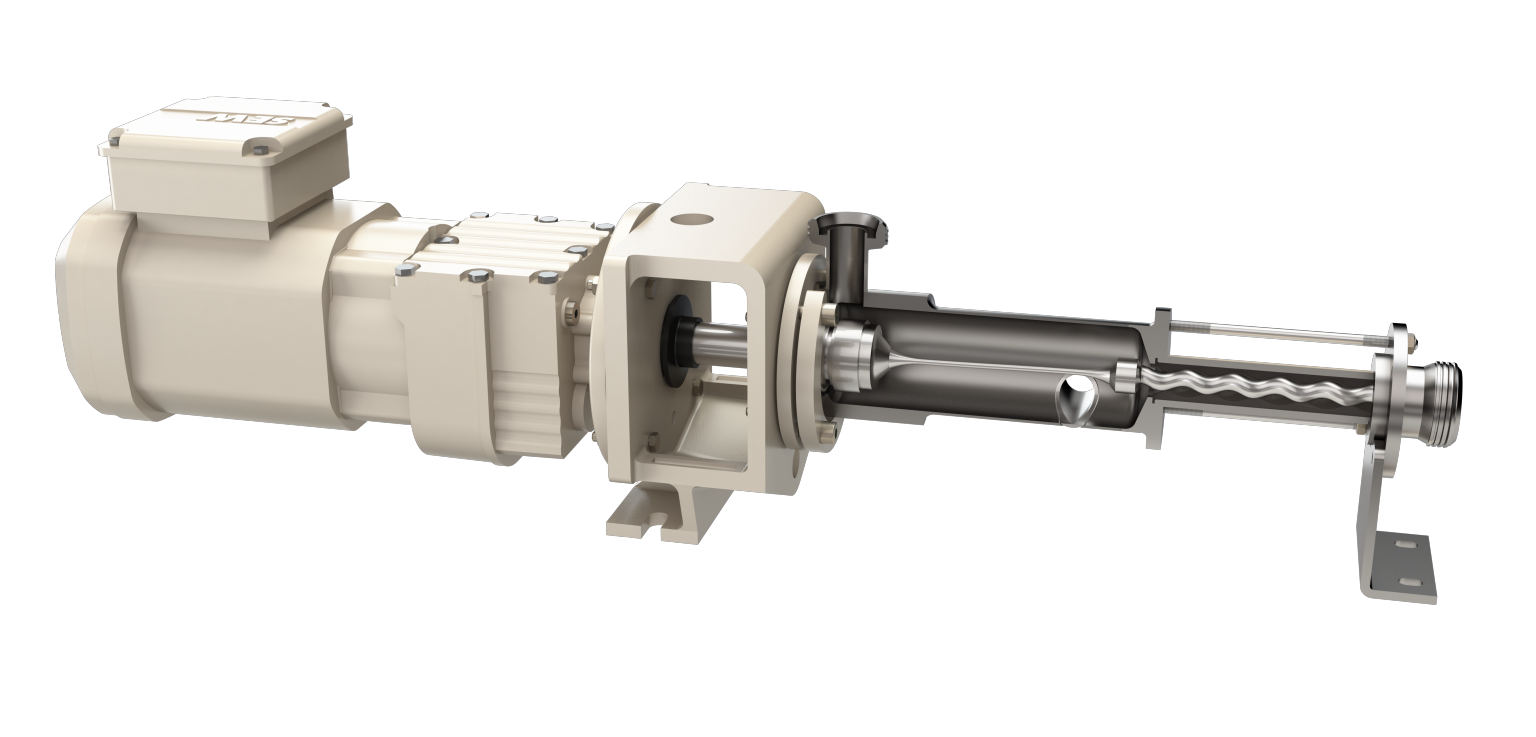 The slim design of the progressing cavity pump allowed the installation of four pumps together with frequency inverters on a carrier module