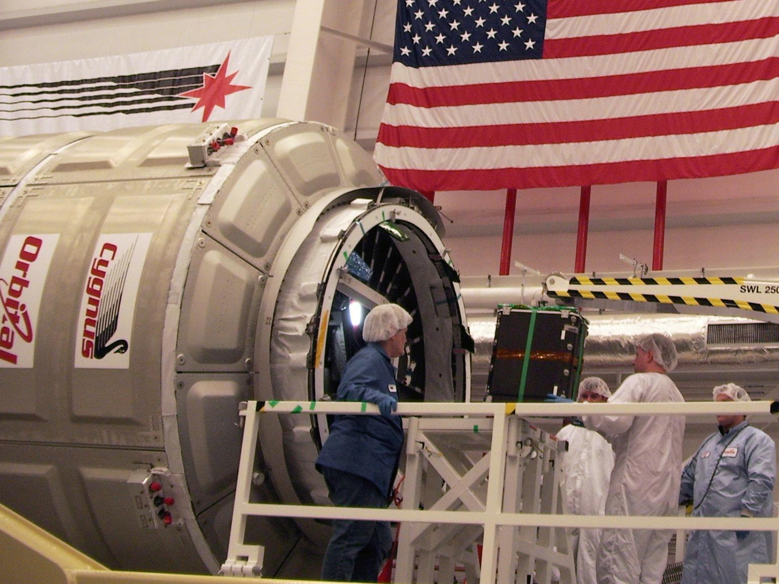 The unmanned spacecraft Cygnus