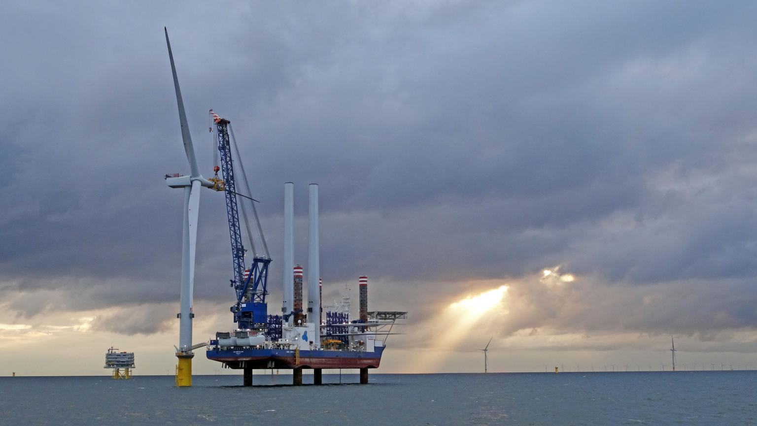 Construction of the Hornsea One project for Orsted