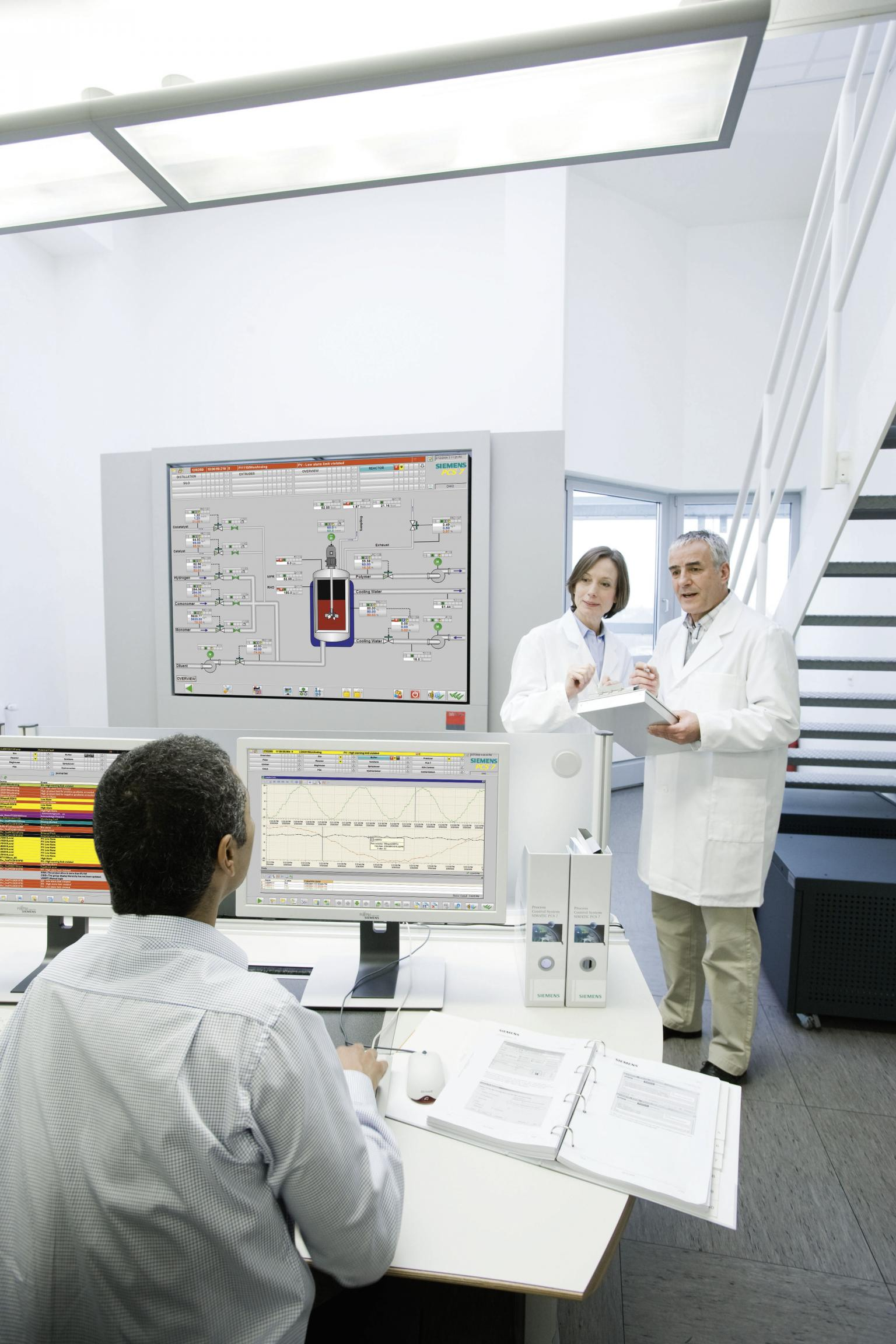 Siemens process control software is used in a variety of plants worldwide, from chemical to pharmaceutical