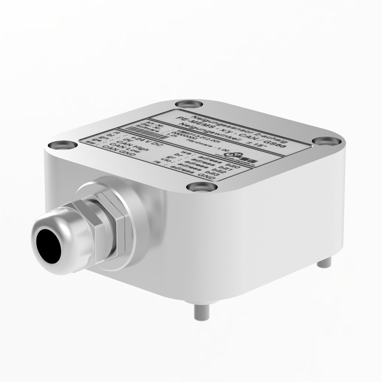 PE-MEMS.../GS66 series inclinometers are suitable for measuring platform slope, for example in marine applications