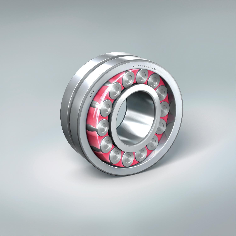 NSK Molded Oil Spherical Pink Bearings