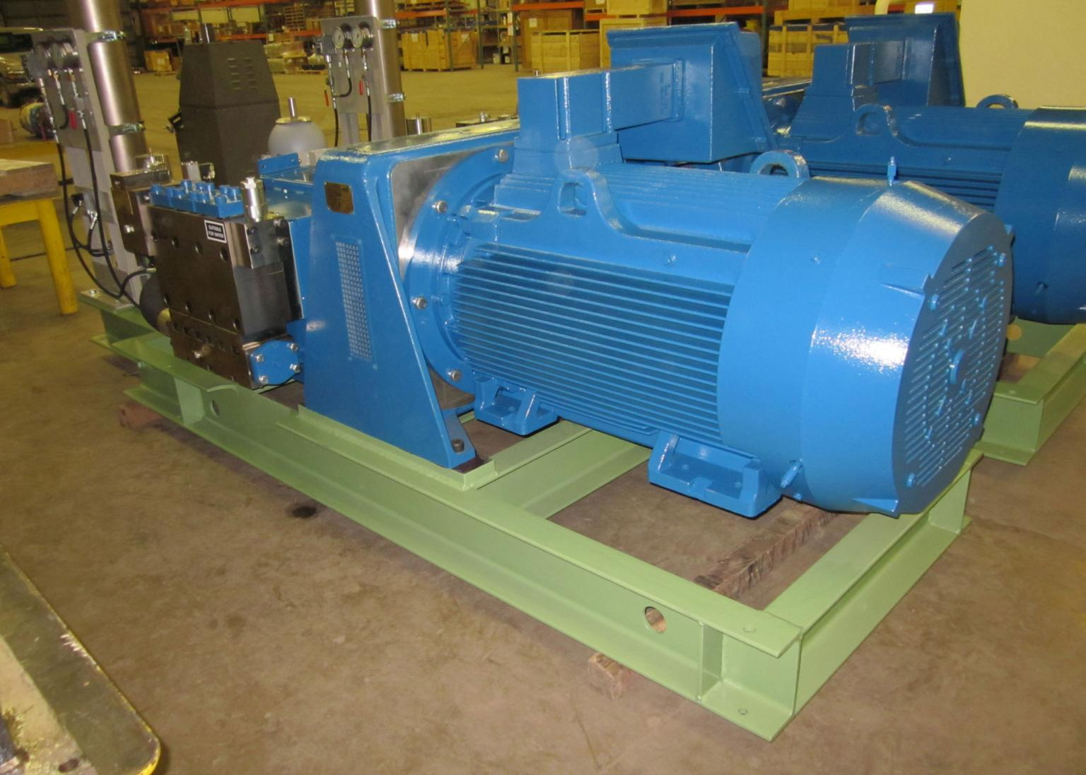 Positive displacement pumps require a smaller motor than rotary pumps