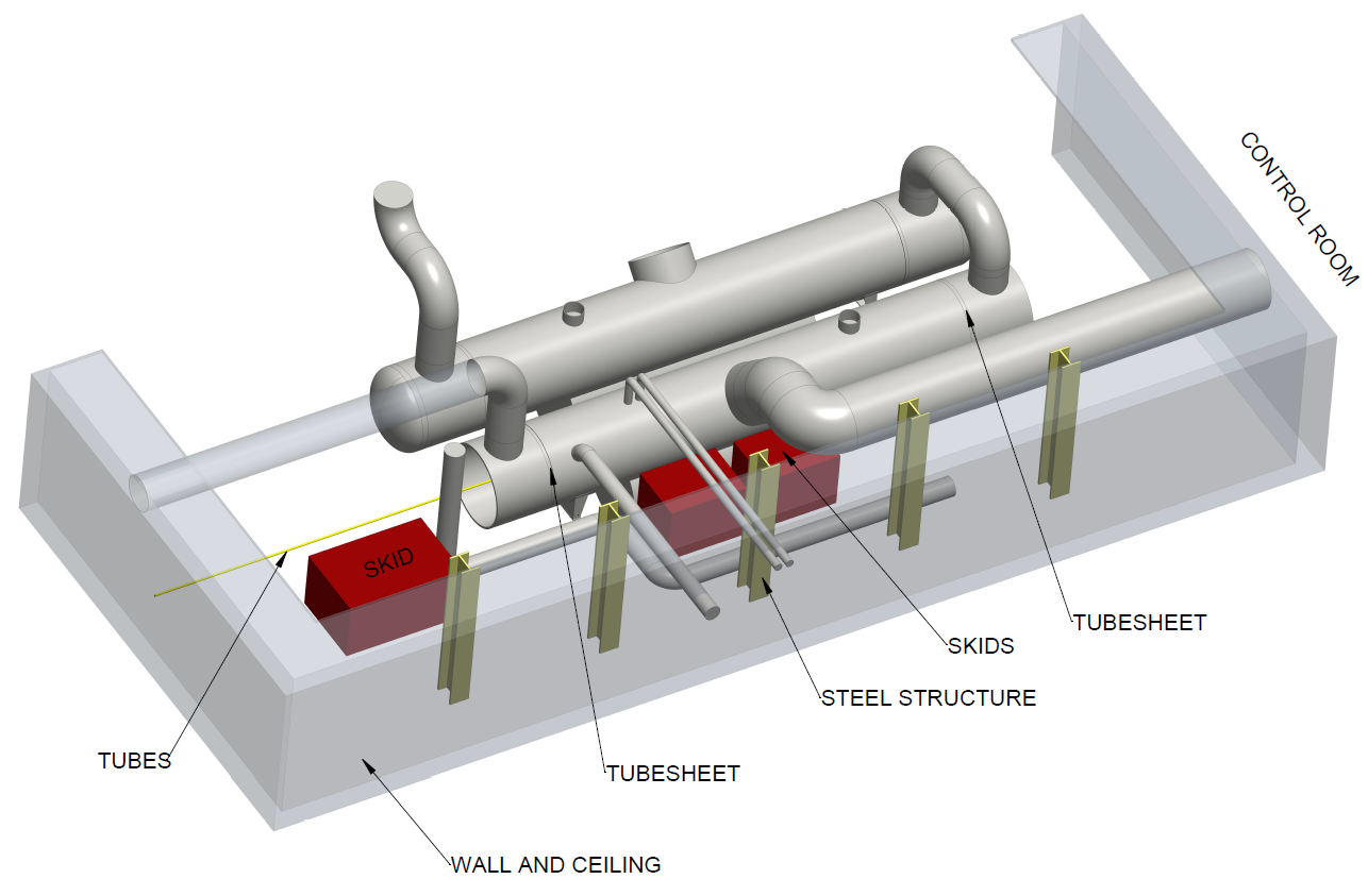 Schematic 2: 3D drawing of the maintenance location