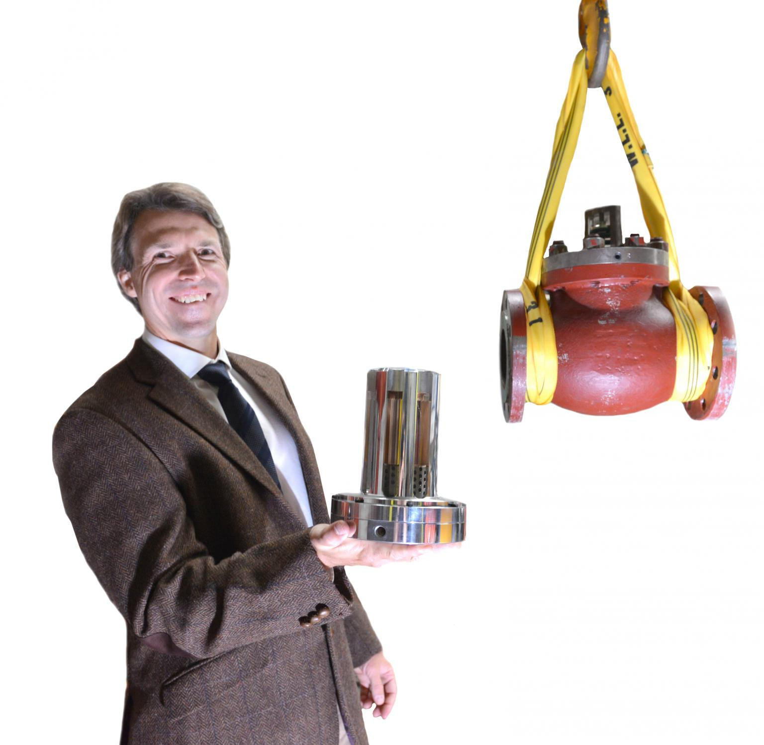 Professor Tom Povey and his lightweight flow regulator