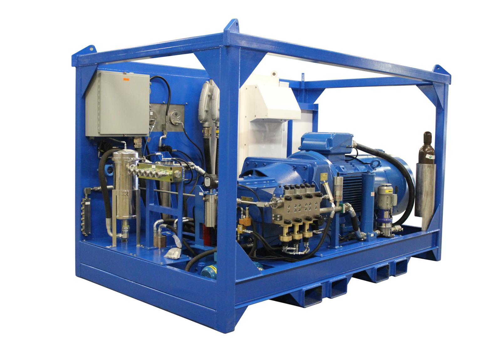 The completed test rig provided this facility with a much more efficient pump, providing substantial savings in time and money to complete the testing and flushing operations