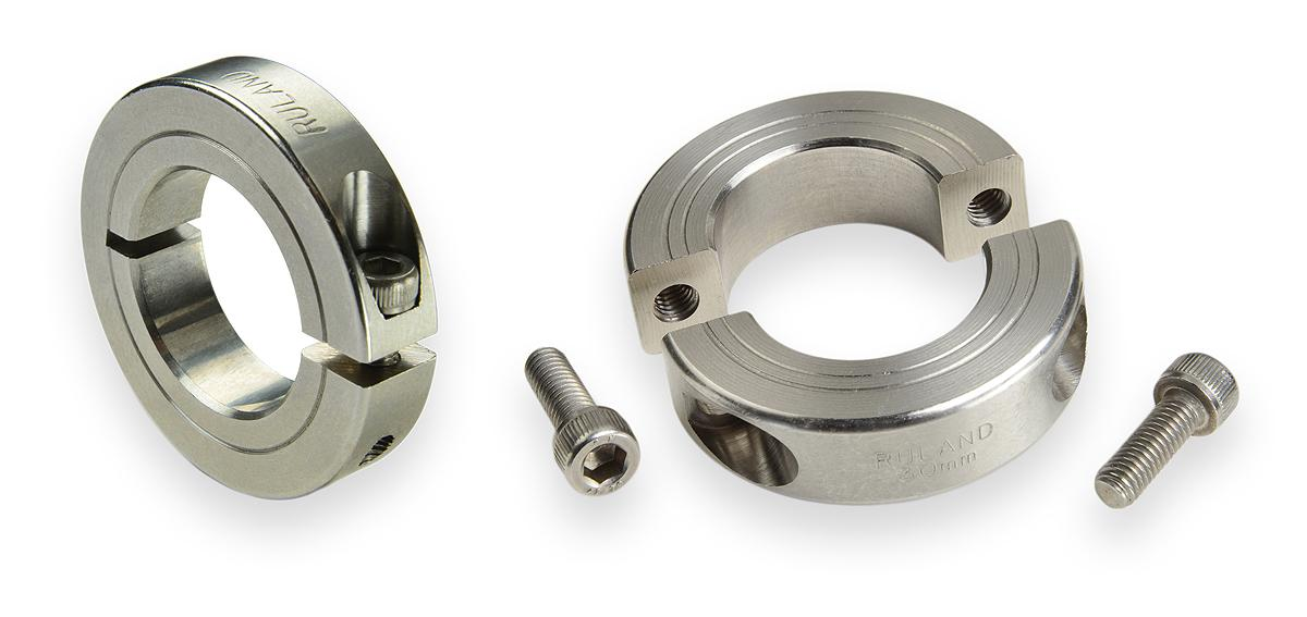 Shaft collars from Ruland are machined to a fine surface finish free of imperfections that lead to premature corrosion and failure