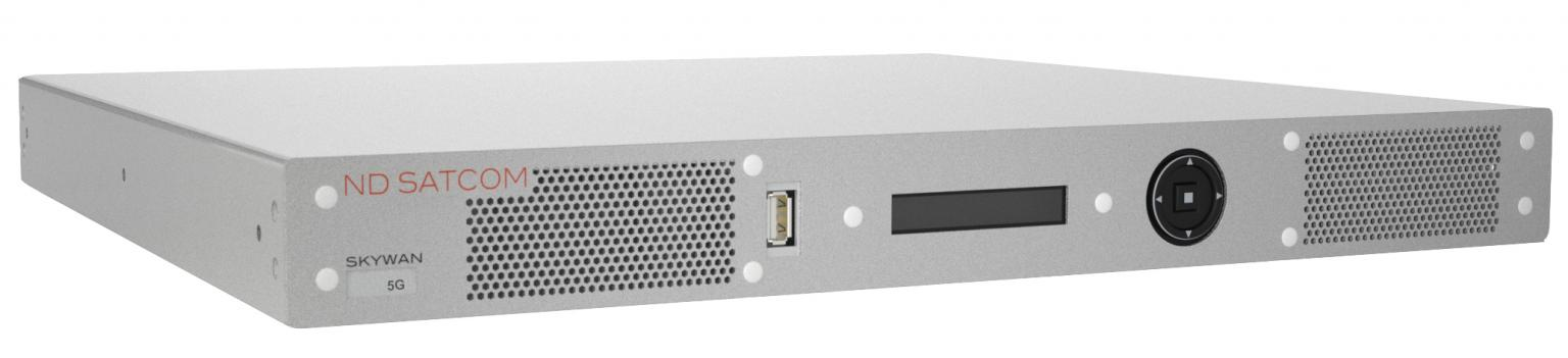 The SKYWAN 5G terminal provides an integrated router and transmits all data or voice directly to the destination