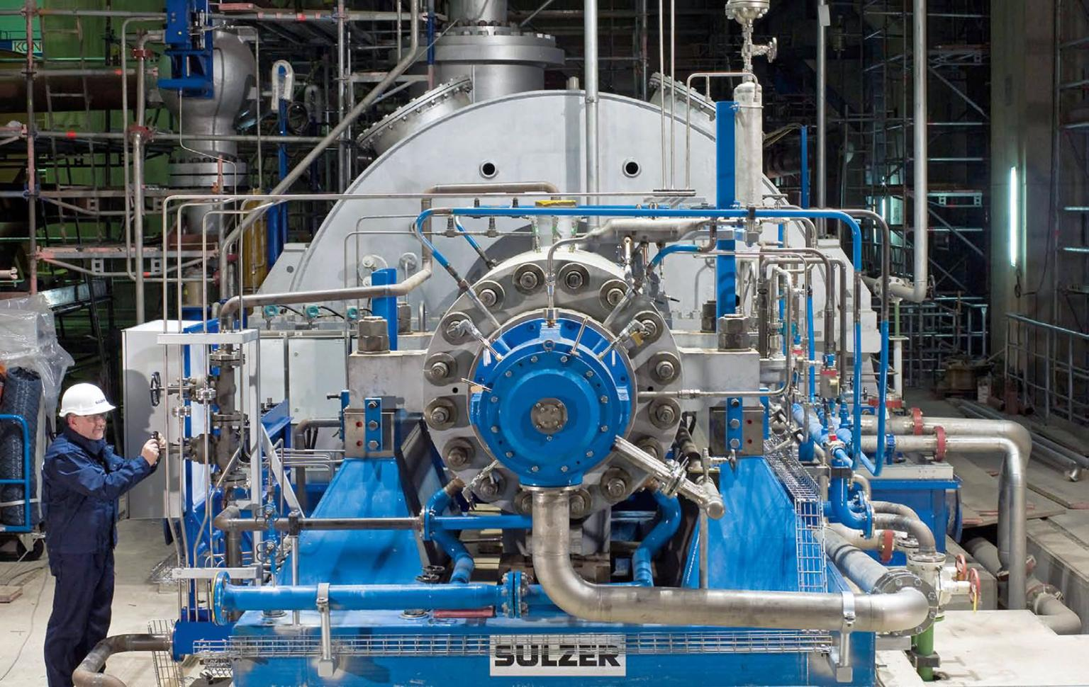 The turbine within a nuclear power plant requires considerable support from a number of pumps and motors that ensure the condensate water and cooling water systems are maintained properly