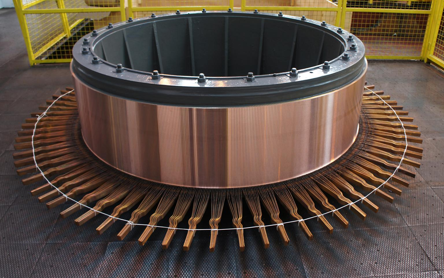 The in-house commutator production facility at Sulzer's Birmingham Service Centre is able to refurbish almost any commutator or slip ring assembly