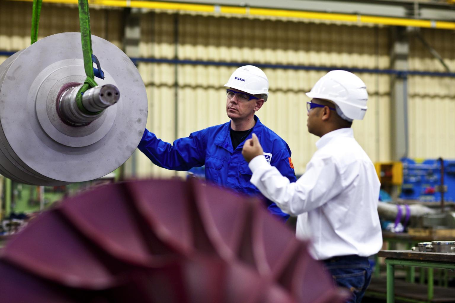 Sulzer can provide design improvements to a number of larger rotating components such as pumps, compressors, motors and generators. Image: Sulzer