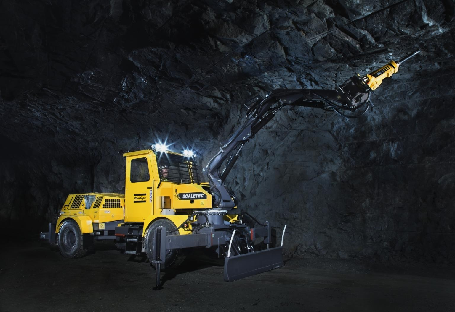 One of two smaller Scaletec rigs from Atlas Copco for flexible operations in smaller drives
