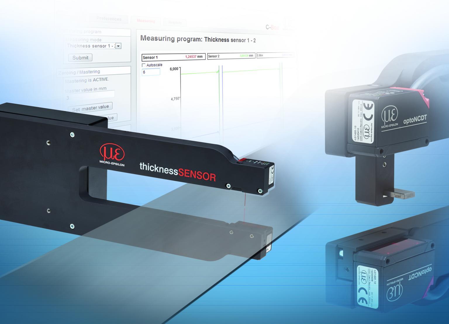 The ThicknessSensor is Micro-Epsilon's latest measuring solution