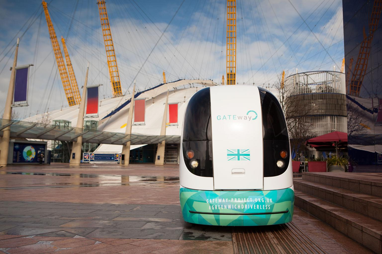 The autonomous 'pods' used in the Greenwich trial look less like conventional vehicles