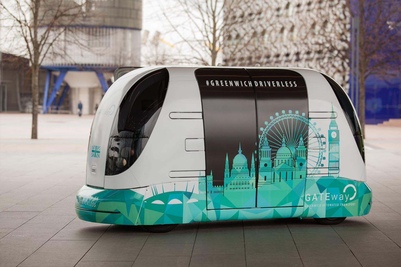 The pods will shuttle visitors around the O2 arena
