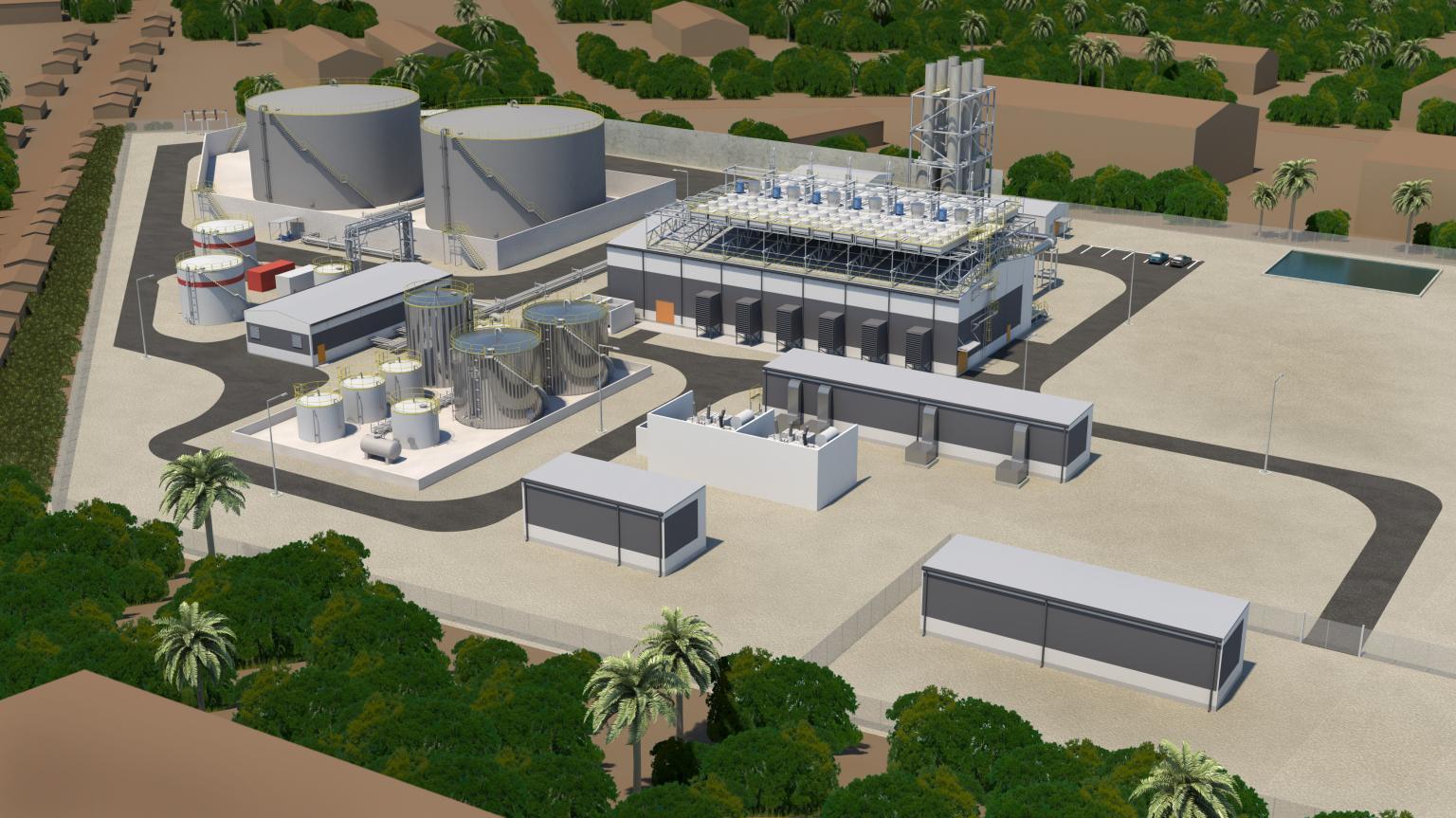 The 57 MW Wärtsilä Power Plant in Freetown, Sierra Leone