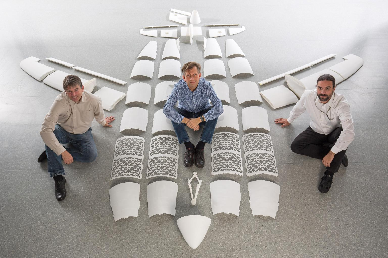 The Airbus design team display THOR's composites