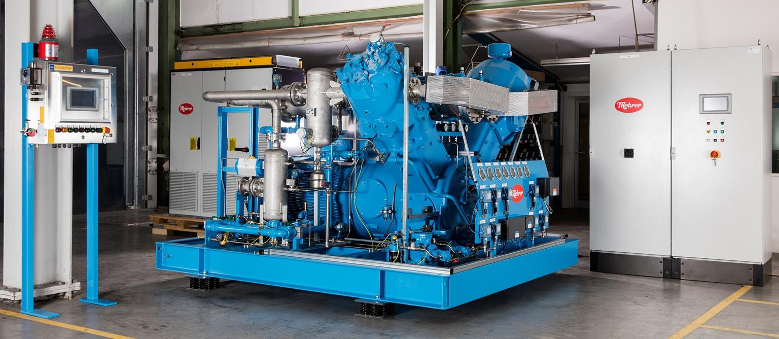 Mehrer Compression has developed the TVx series for use with process gases such as hydrogen, carbon dioxide and ehytlene.