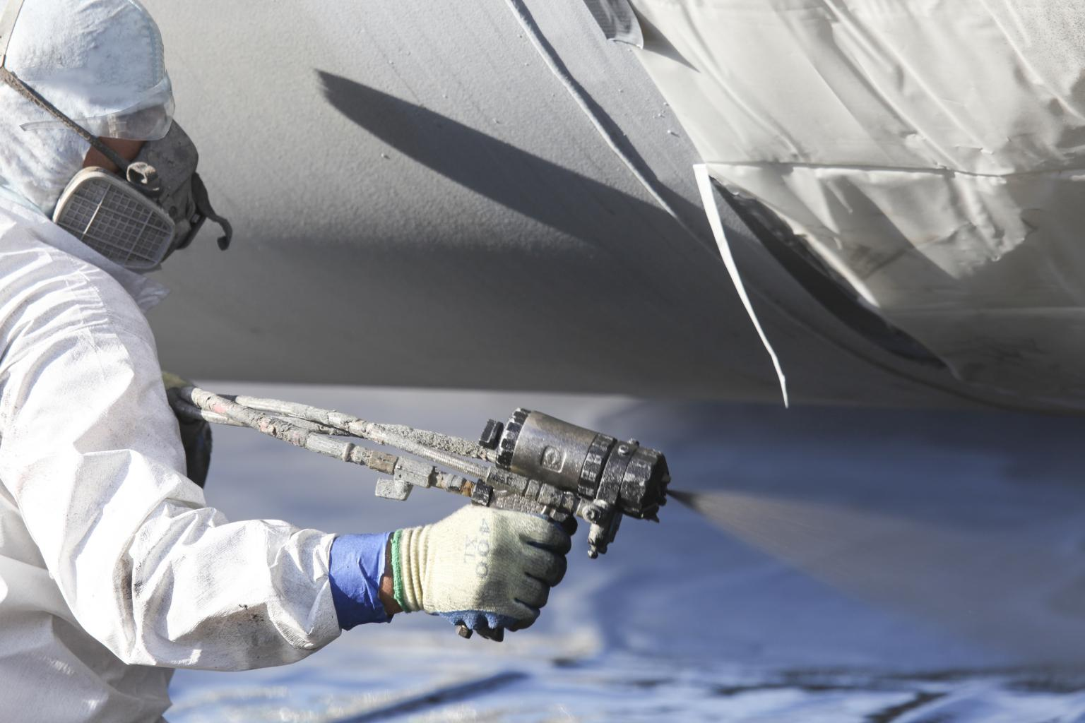 The VersaFlex solution is spray-applied