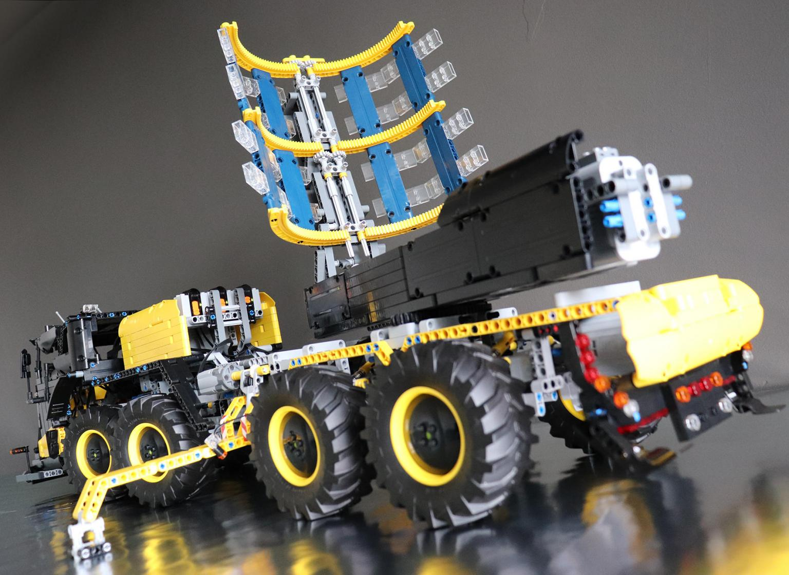 Runner up prize-winning model Volvo ICARUS, by James Cox, is a mobile solar power plant