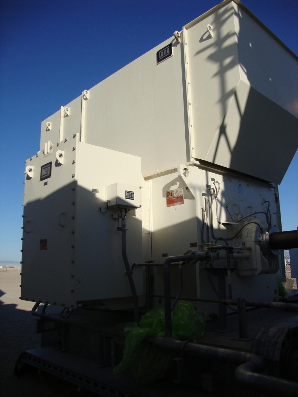 Brute power: the WEG generator in Nakhla has a capacity of 10.2 MVA and weights around 36 tonnes. Source: WEG