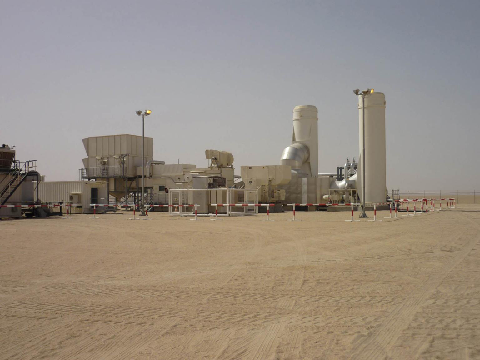 The new autonomous system, consisting of a generator and a gas turbine, generates electricity round the clock using associated gas from the GOSP in Nakhla. Source: Wintershall