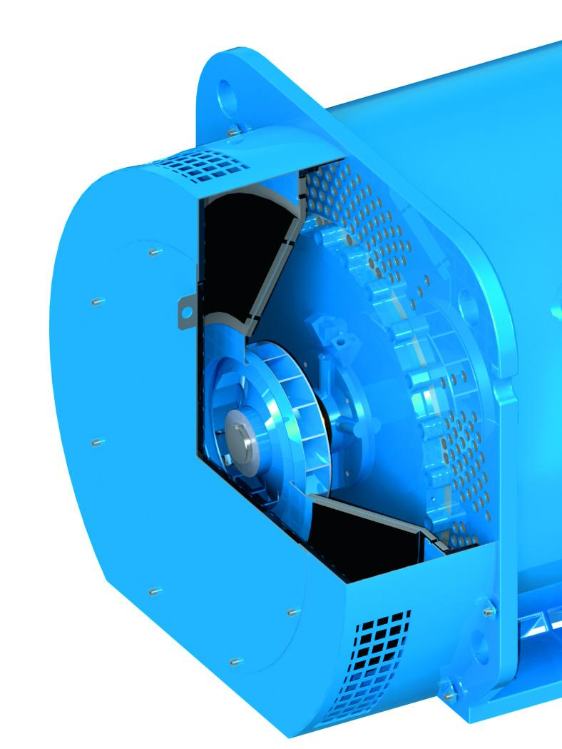 The tubular cooling system of the W22X 800 contributes to its high efficiency by providing effective heat dissipation