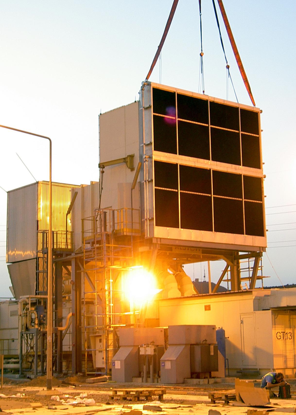 Installation of Munters evaporative air coolers