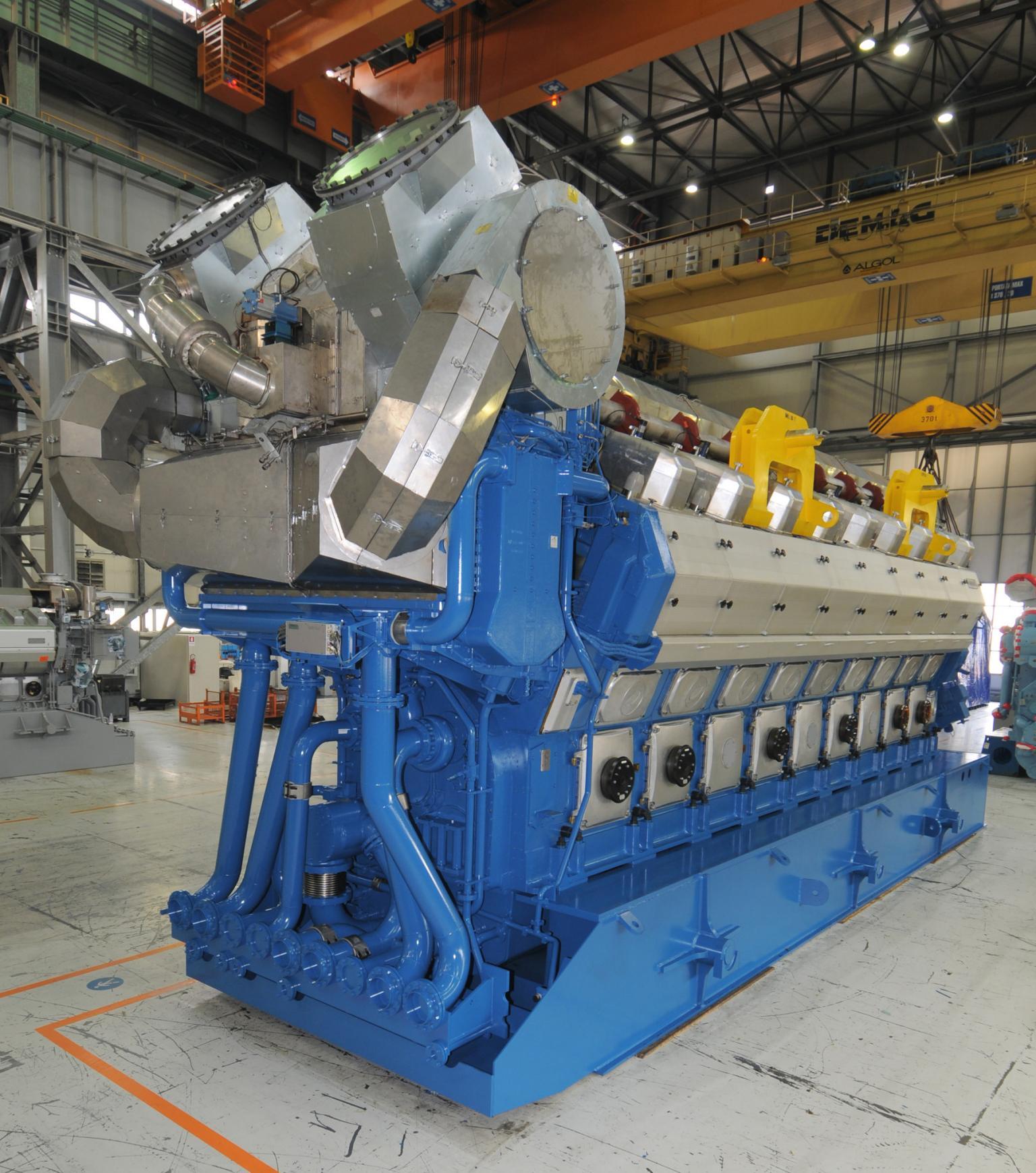 A Wärtsilä 50SG engine