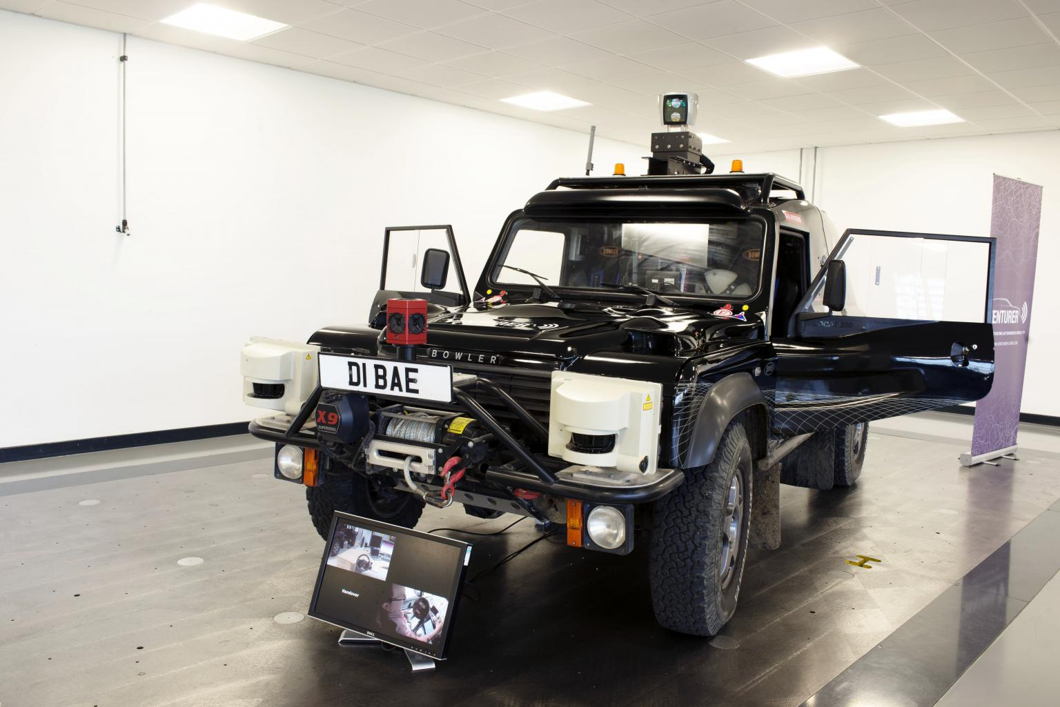 An adapted Land Rover is being used in the Venturer project