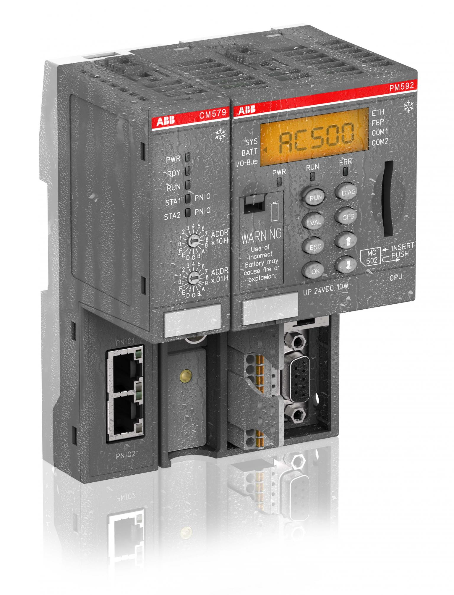 The PLC is protected against vibration and shock and will tolerate a lot of mechanical stress