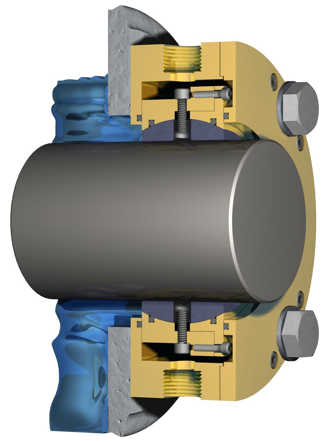The Smooth Bore Air Mizer seal uses air to create a barrier on the shaft that keeps product in the vessel and contamination out